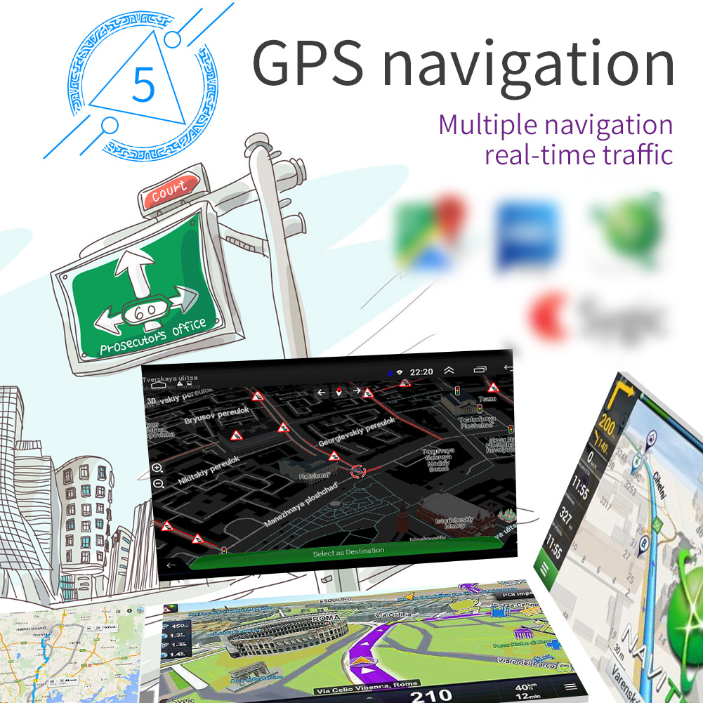 7 Inch Auto Radio Android 8.1 Gps Navigatie Wifi Usb Opladen 1 Din Hd Touch Screen Auto MP5 Speler - 4
