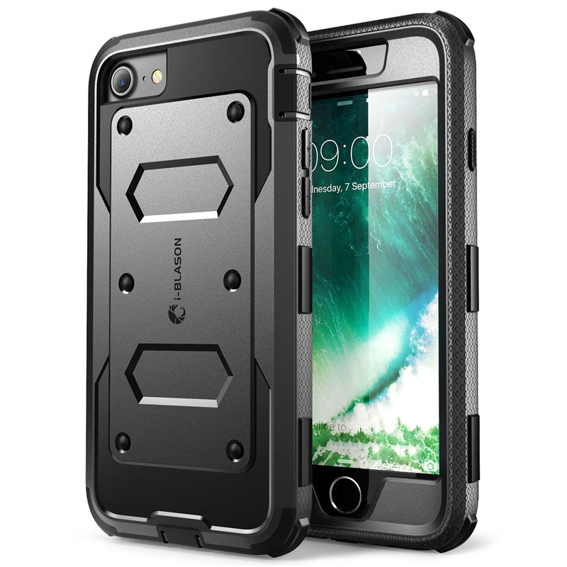 Armorbox Full Body Heavy Duty Shock Reduction Bumper Cover With Built In Screen Protector For Iphone 7 8 SE 2020 Case