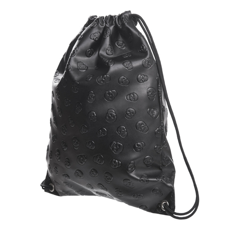Nuevo bolso Unisex calavera cordón moda deporte viaje mochila al aire libre bolsas L9BE Bolso para mujer 2019 nuevo estilo coreano bolso de mano de moda bolso de lona bolso bandolera