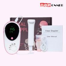 Плод Doppler Круглый Большой экран пренатальный датчик для отслеживания плода памяти воспроизведения записи кабель
