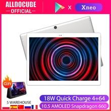 Alldocube x neo 4g lte 10.5 polegadas 2.5k 2560*1600 tela amoled super ultra magro tablet pc android 9.0 4gb ram 64gb rom sim duplo
