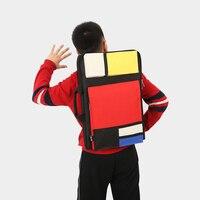 Fashion Plaid Art Bag Kids Art Supplies Bag For Drawing Custom LOGO MOQ20PCS
