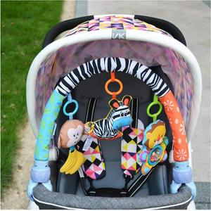 Image 5 - SOZZY Baby Hanging Toys Stroller Bed Crib For Tots Cots rattles seat plush Stroller Mobile Gifts animals Zebra Rattles 40% off