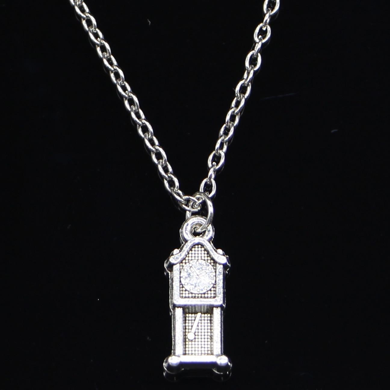 New Fashion Necklace 20x8mm grandfather clock antique Pendants Short Long Women Men Colar Gift Jewelry Choker