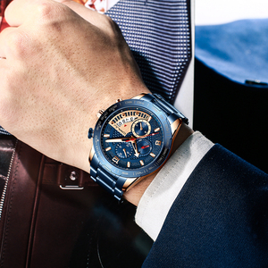 Image 5 - CRRJU 2020สแตนเลสแฟชั่นหรูหราธุรกิจLuminous Chronographนาฬิกาควอตซ์Relogio Masculino