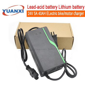 24V 5A 40AH Lead acid battery lithium battery charger Electric Bikes motorcycle chargers image