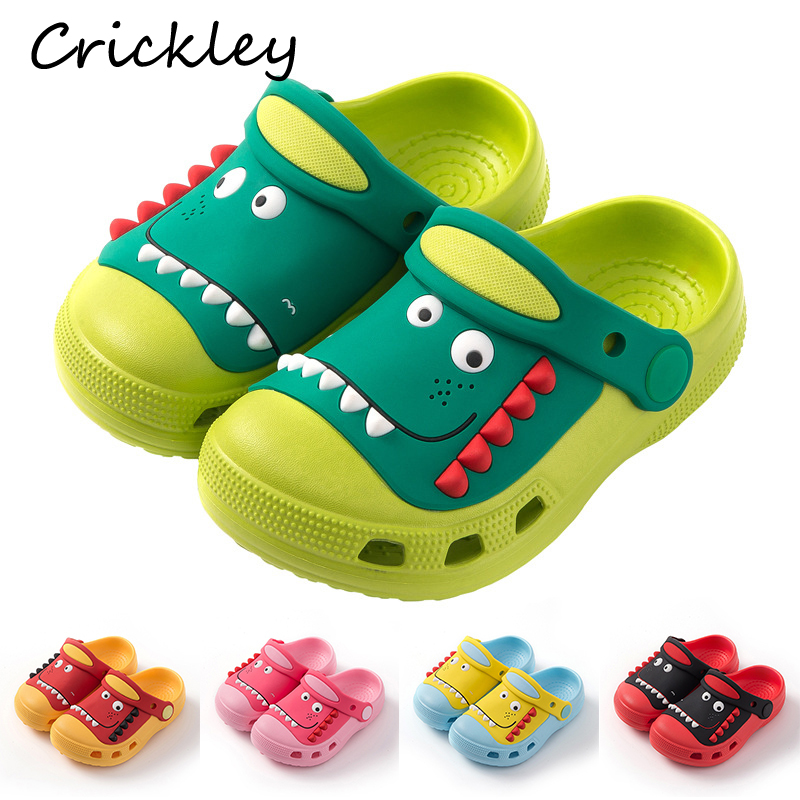 High Quality Summer Boys Slippers Cartoon Dinosaur Pattern Garden Shoes For Kids Girls Indoor Beach Shoe Soft Non Slip Slippers