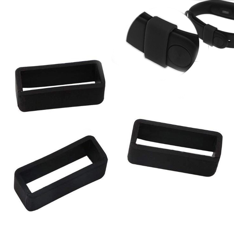 <font><b>20mm</b></font> 22mm 24m Silicone Ring Keeper Buckle Loop Holder for Samsung <font><b>Garmin</b></font> Amazfit Huawei Fossil Fitbit Watch <font><b>Band</b></font> Smartband Strap image