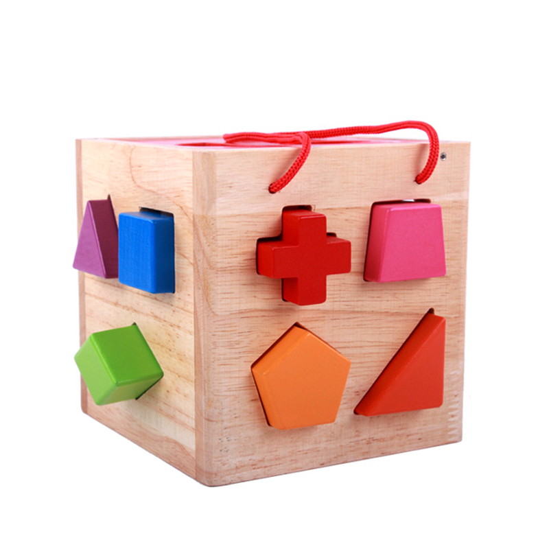 Kolorowy kształt zestaw puzzli drewniane zabawki edukacyjne zabawki dla dzieci dla maluch dzieci nauka rozwoju zabawki