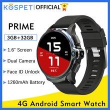 """смарт часы KOSPET Prime 3GB 32GB Smart Watch Men Android smart Watches uhren herren Watch Uhr Männer Uhren Telefon 8.0MP Kamera 1260mAh Gesicht ID 1.6 """"4G часы мужские PhoneAndroid GPS Smartwatch 2020 Für Xiaomi IOS"""