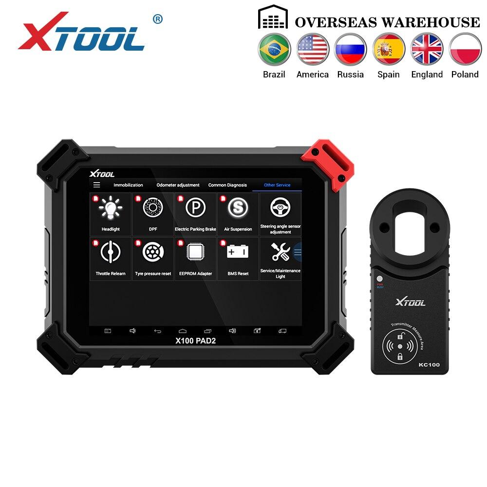 X100 OBD2 PAD2 Pro Profissional Ferramenta de Diagnóstico Do Carro com Imobilizador programador chave Para VW 4th 5th e ajuste Do Odómetro FREE TAXES