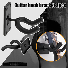 Newly 2pcs Guitar Wall Mount Hanger Strong Load Bearing Stand Acoustic Electric Bass Guitars Hooks  TE889