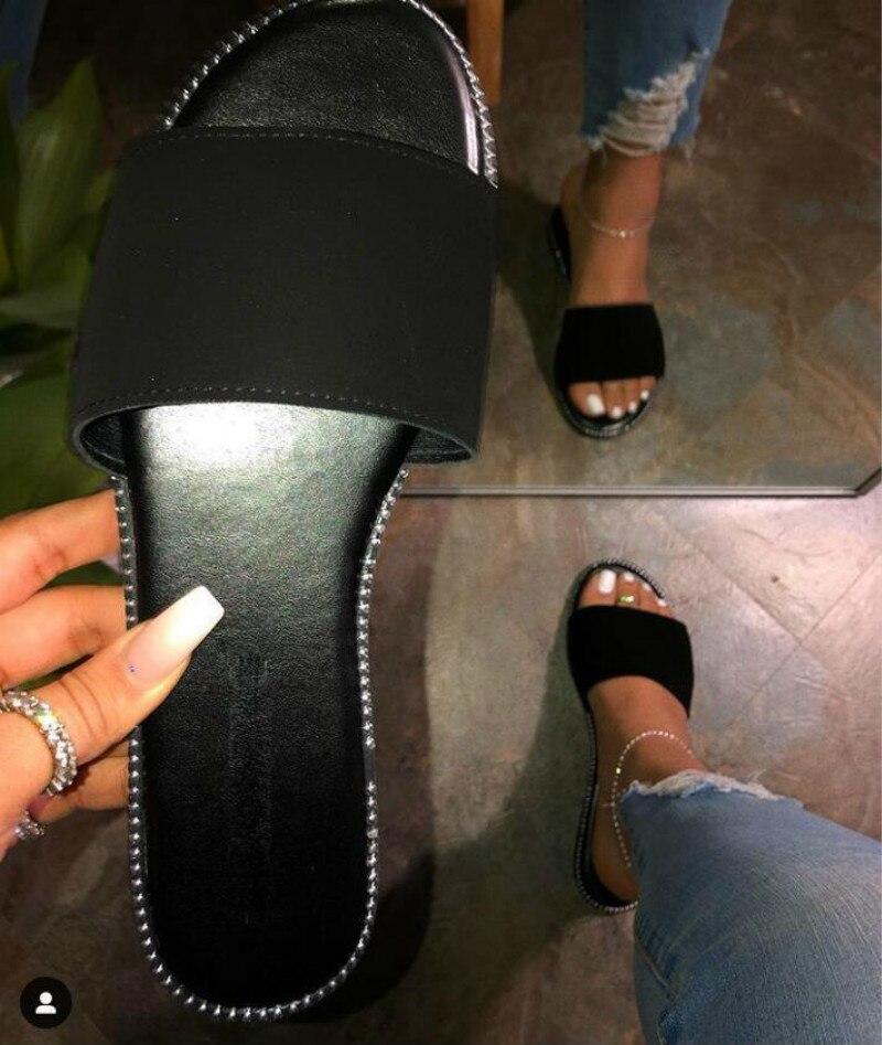 2020 Black Durable Sandals Outdoor Wild Beach Slippers Flat Flip Flop Spring Summer Women's Slides Leopard Women Home Slippers