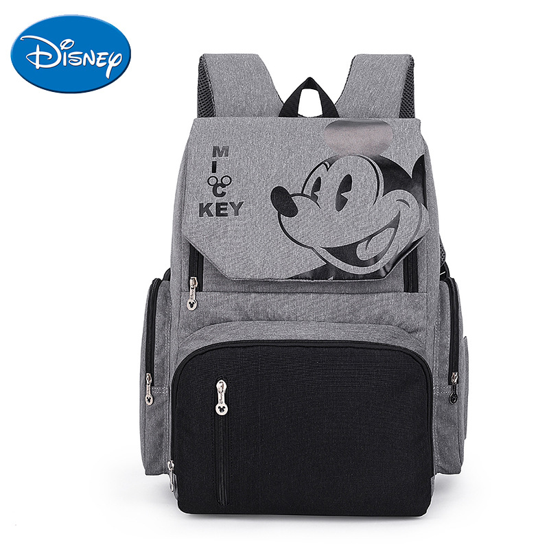 Disney New Style Diaper Bag Fashion Large Capacity Backpack Polyester Street Trend Mommy Bag  Waterproof Maternity Bags