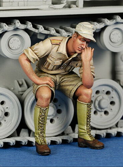 1/35 Ancient Officer Sitting On The Wheel   Resin Figure Model Kits Miniature Gk Unassembly Unpainted
