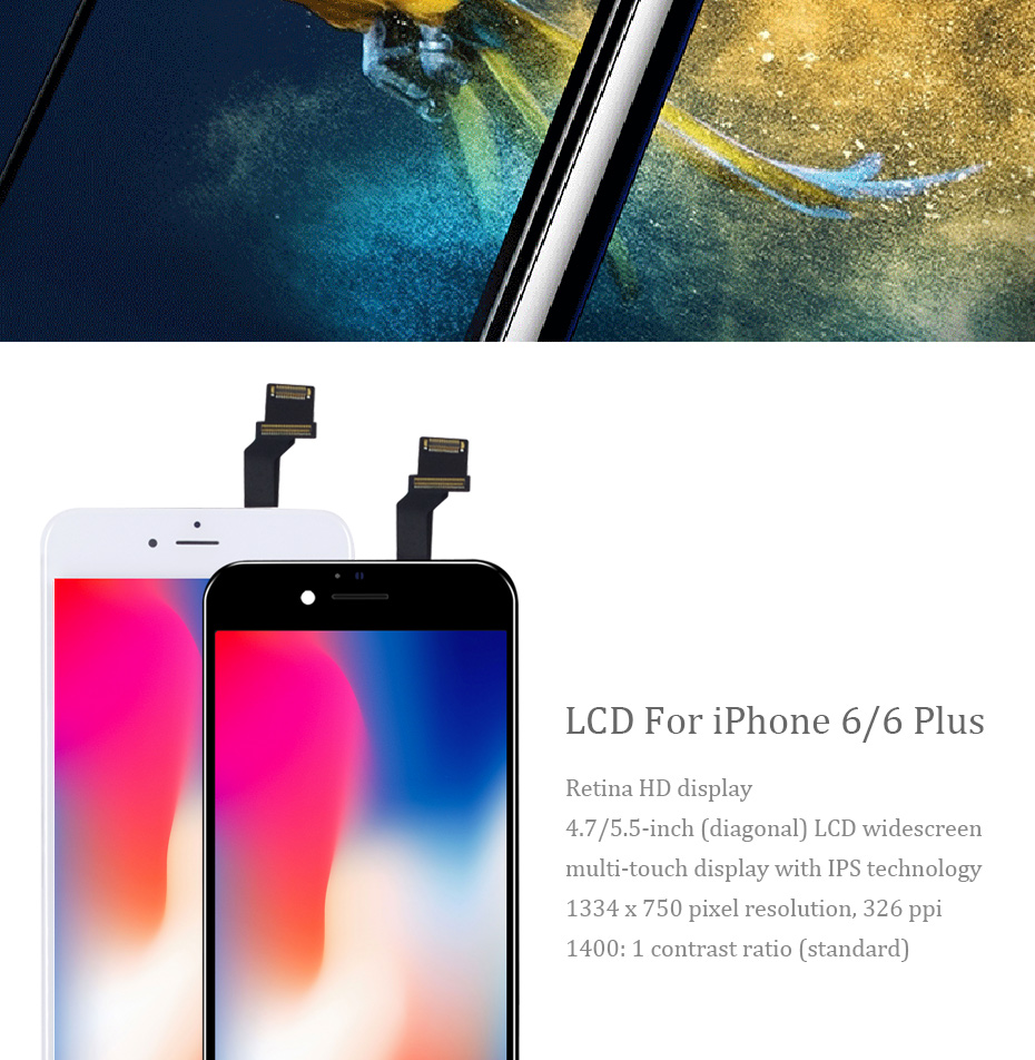 Hb0e4d1bb89fa4eeea614720d4b333f2bk PINZHENG 100% AAAA Original LCD Screen For iPhone 6 6s Plus Screen LCD Display Digitizer Touch Module Screens Replacement LCDS
