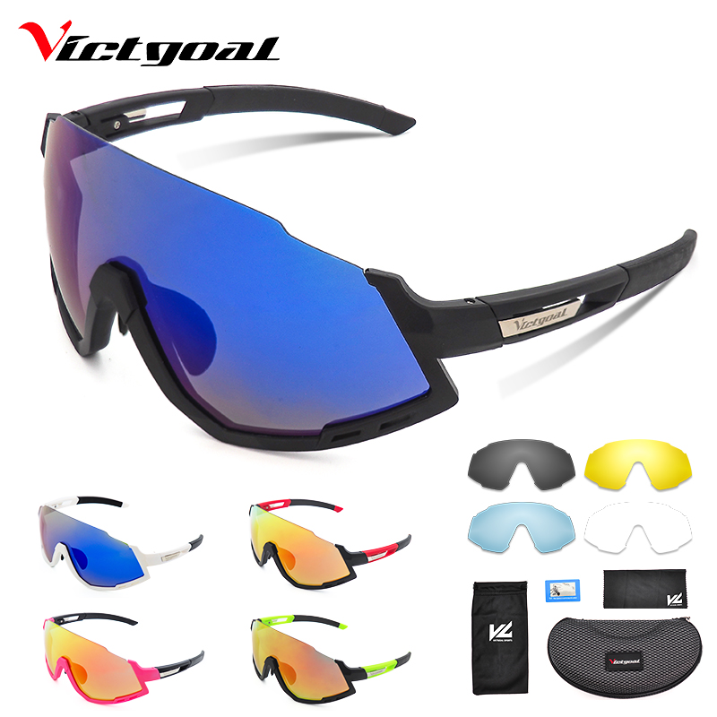 Polarized Cycling Sunglasses Mountain Bike Photochromic Cycling Eyewear 5 Lens