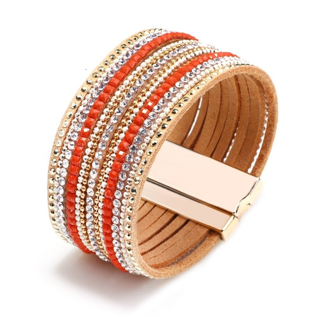 Wrap Women Leather Bracelet...