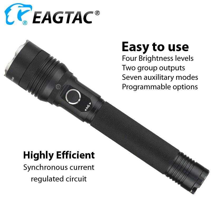 Eagtac SX25L2 Oplaadbare Politie Duty Licht 4 Modus Strobe 1494 Lumen 616 Yard 200 Uur Geel Rood Groen Blauw Diffuser filter - 5
