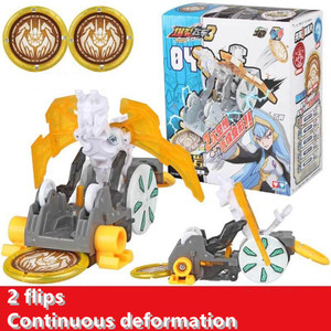 Image 4 - Screechers wild burst flips, pegatinas de transformación, figuras de acción de anime de robot, chip de captura de cazador, oblea, juguetes para niños y niñas