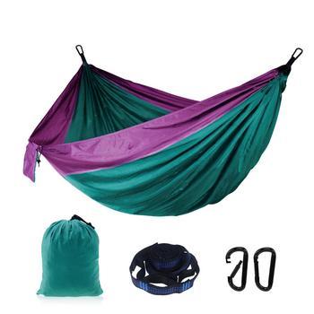 2 Person Outdoor Camping Survival Hammock Portable Hammock Garden Swing Hunting Hanging Sleeping Chair Travel Parachute Hammocks
