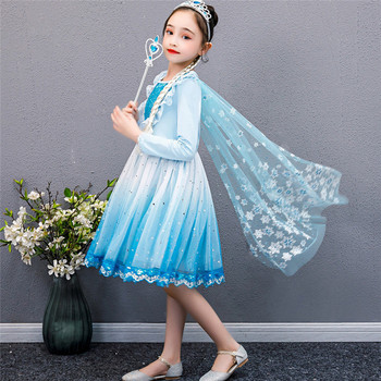 12m 5y baby girl ruffle fly sleeve linen dress new kids girls solid dresses button falbala princess party tops clothes vestido The New Girls Dress vestidos Princess Aisha Clothes Kids Dresses vestido Baby Printing Gauze Party Children Clothing Long sleeve