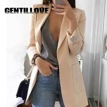 Women Autumn Solid Color Blazer Female Work Office Wear Pocket Tweed Blazer Plus Size 5XL Casual Coat Fashion 2019 Pink Outwear биде laguraty 2159c blue