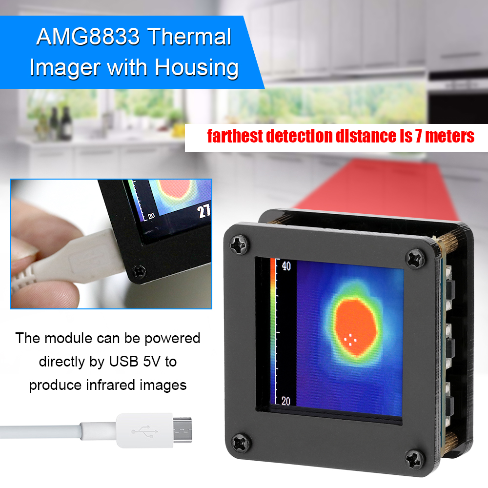 IR 8*8 Infrared Thermal Imager Array Temperature Sensor AMG8833 7M Farthest Detection Distance weather station thermal camera image