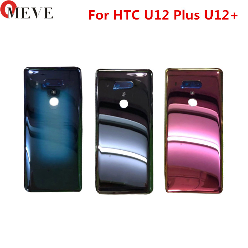 6.0 Inches For HTC U12 Plus Back Battery Cover Rear Door Panel Glass Housing Case Replacement Part For HTC U12+ Battery Cover