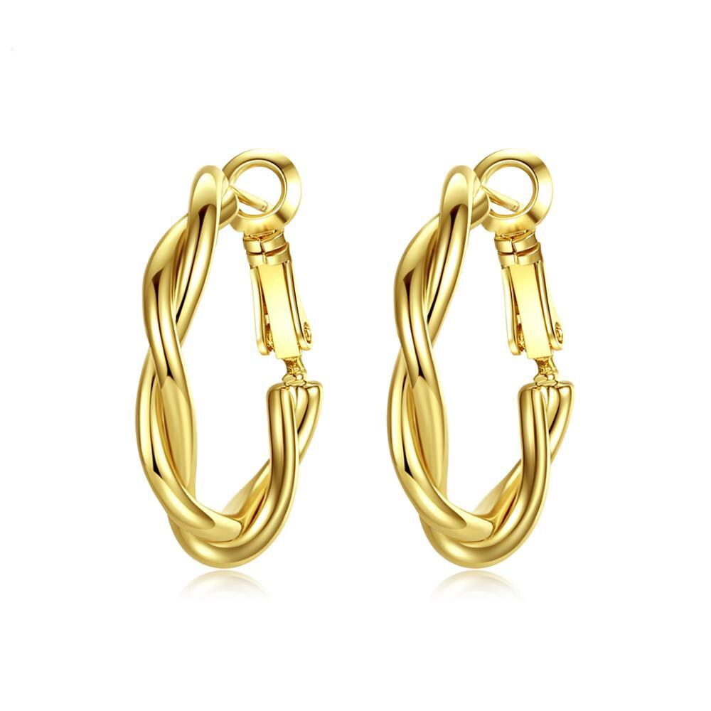 LUOTEEMI-Minimalist-Twist-Type-Round-Earrings-for-Women-Girls-Party-Dating-Korean-Femme-Fashion-Jewelry-Brincos