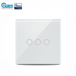 Image 1 - NEO COOLCAM 3CH Z wave Plus 벽 조명 스위치 3 Gang Home Automation 벽 조명 스위치 터치 컨트롤 EU 868.4MHZ