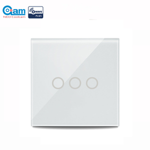 Image 1 - NEO COOLCAM 3CH Z wave Plus Wall Light Switch 3 Gang Home Automation Wall Light Switch Touch Control EU 868.4MHZ