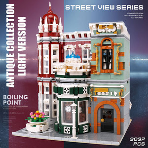 Image 3 - MOC 15008 Street View Building Toys Compatible With 10185 Green Grocer Led Light Model Building Blocks Kids Christmas Toys Gifts