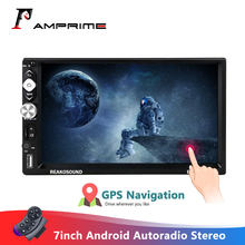 Amprime 7 ''Andriod 2 Din Autoradio Autoradio Auto Multimedia Speler Gps Navigatie Bluetooth Audio Wifi Usb Fm Mirrorlink radio(China)