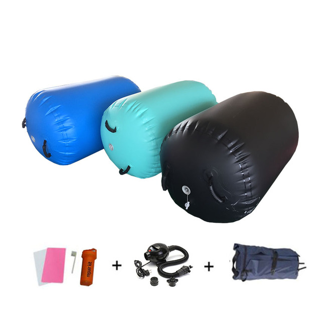 4 Piece Set Sports Fitness Inflatable Airtrack Matte Gymnastics Tumbling Air Track Yoga Mat Roller For Home Outdoor Training