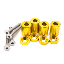 1'' 8mm Billet Hood Vent Spacer Riser Kit For Car Auto Motor Turbo Engine Swap for Audi/BMW/Mercedes-Benz Chevy, Nissan, VW
