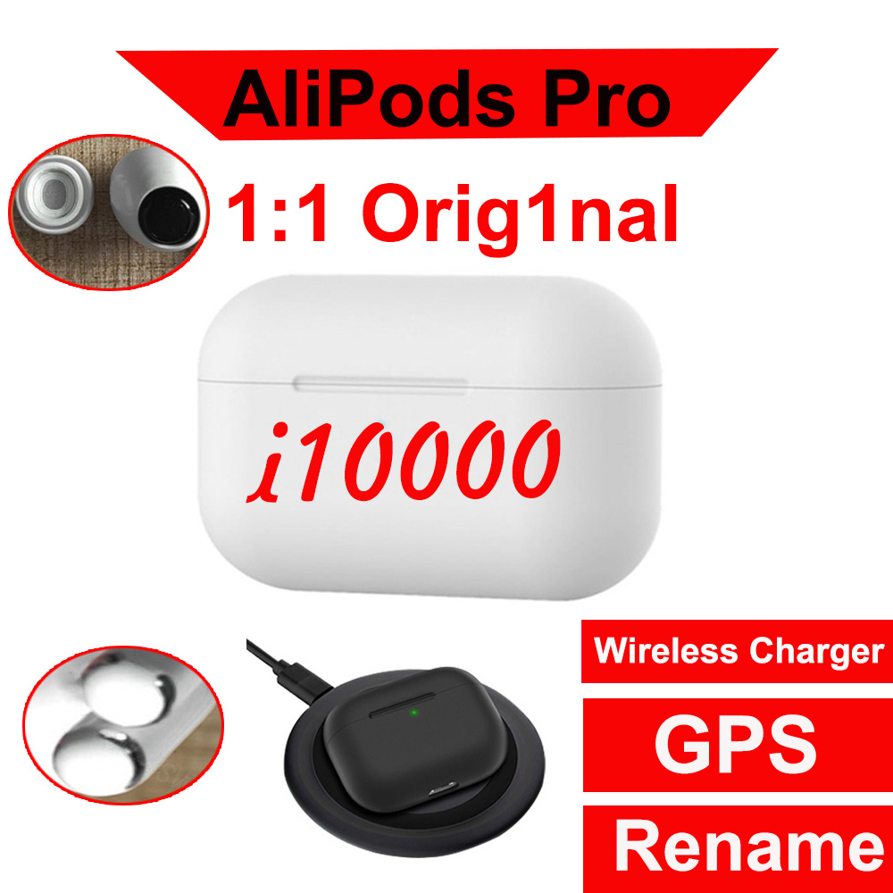 <font><b>Original</b></font> AliPods Pro 10000 <font><b>TWS</b></font> new wireless earphones bluetooth headsets earbuds PK W1 H1 chip i200000 i500 i9000 <font><b>i90000</b></font> <font><b>tws</b></font> image