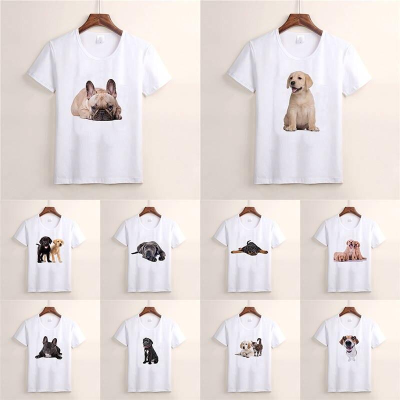 New Fashion Summer T-shirt Pet Dog Harajuku Short Sleeve O-neck Casual Lovely Tees Cool Top TX40