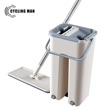 Cleaning-Cloth Automatic Spray Mop Spin Floor Microfiber Hand-Washing Mop-Free Wooden