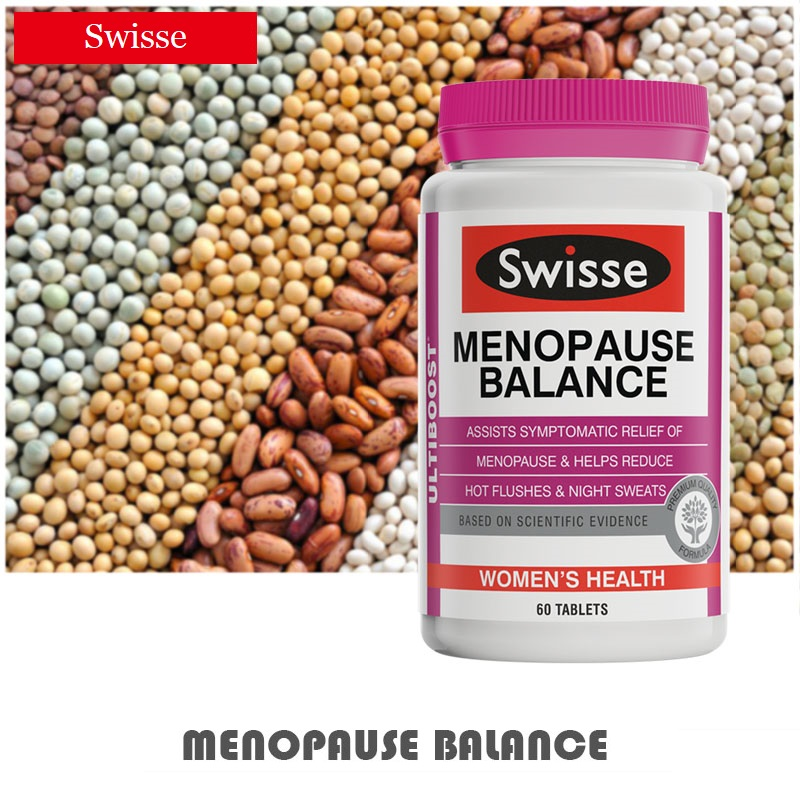 Australia Swisse Menopause Balance Women Health Reduce Hot Flushes Night Sweats Trouble Sleeping Nervous Irritability Symptoms
