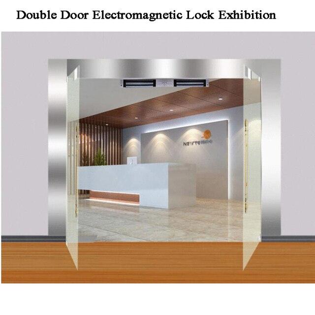 12V Double Door Magnetic Door lock Electromagnetic lock 180/280kg U bracket Building automation/Office Electric Gate opener