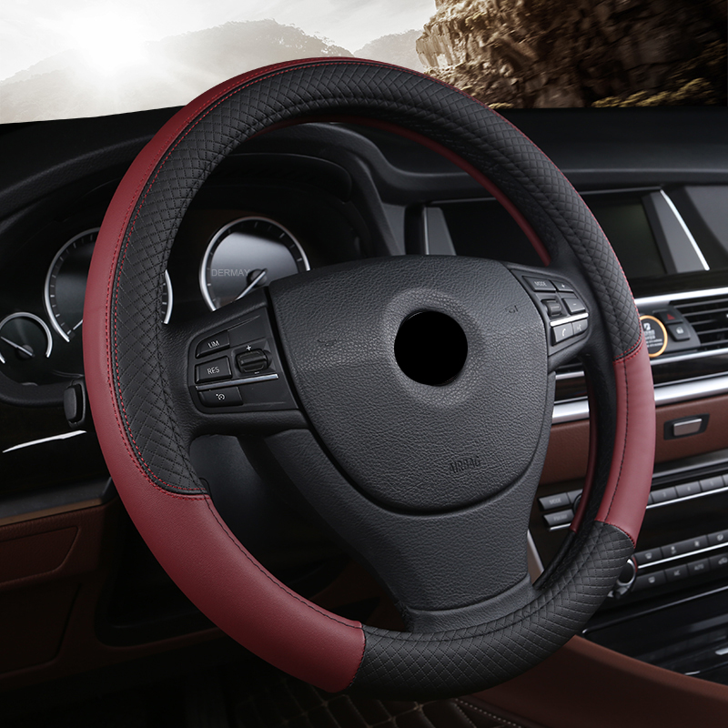 38CM Car Steering Wheel Cover For Real Madrid Barcelona Bayern Manchester United Liverpool AC <font><b>Milan</b></font> Chelsea, Arsenal <font><b>Inter</b></font> <font><b>Milan</b></font> image