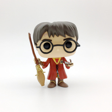 Hot Novel movies Harry action figures Potter 08 10cm model with broomstick toys doll collection for gifts