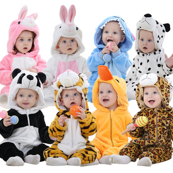 Winter Baby Clothes Panda Rabbit Romper Boy Costume Newborn Romper For Bebes Clothing Kids Girl Jumpsuit Toddler Infant Sleepers 2020 newborn baby winter hoodie clothes boys baby clothing girl 9m 24m boy jumpsuit christmas baby romper warm clothing for kids