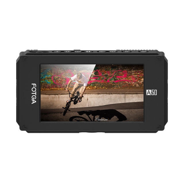 "FOTGA A50T 5"" FHD Video On Camera Touch Screen Field Monitor for sony with Hot/Cold Shoe Mount Adapter 3/8 Inch M6 Adapter"