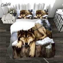 Комплект постельного белья cianlsria wolf с 3d принтом новый