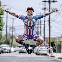 2019 new style Love the pain USA Pride FreeMotion 2.0 Aero Suit Men Cycling skinsuit Bike bodysuit Running Riding bicicleta