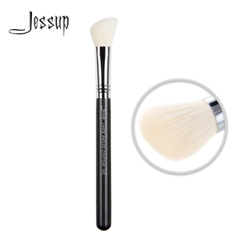 Jessup Makeup Contour Brush of Cheek Beauty tool Large Angled Wood handle Synthetic hair 168