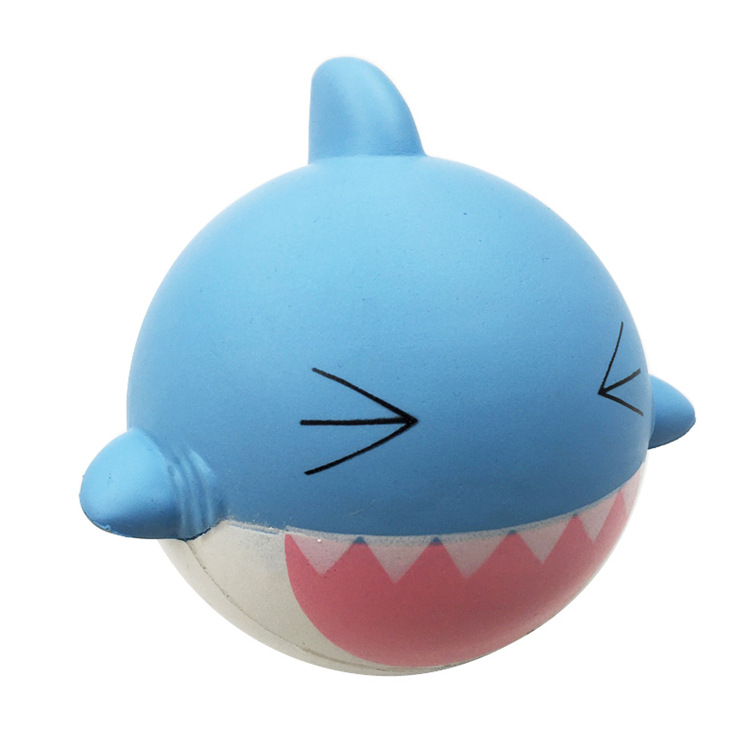 Soft Slow Rising Squishy Kids Cute Lovely Jumbo Big Shark Cartoon Animal Squishy Toys With Good Smell Scented