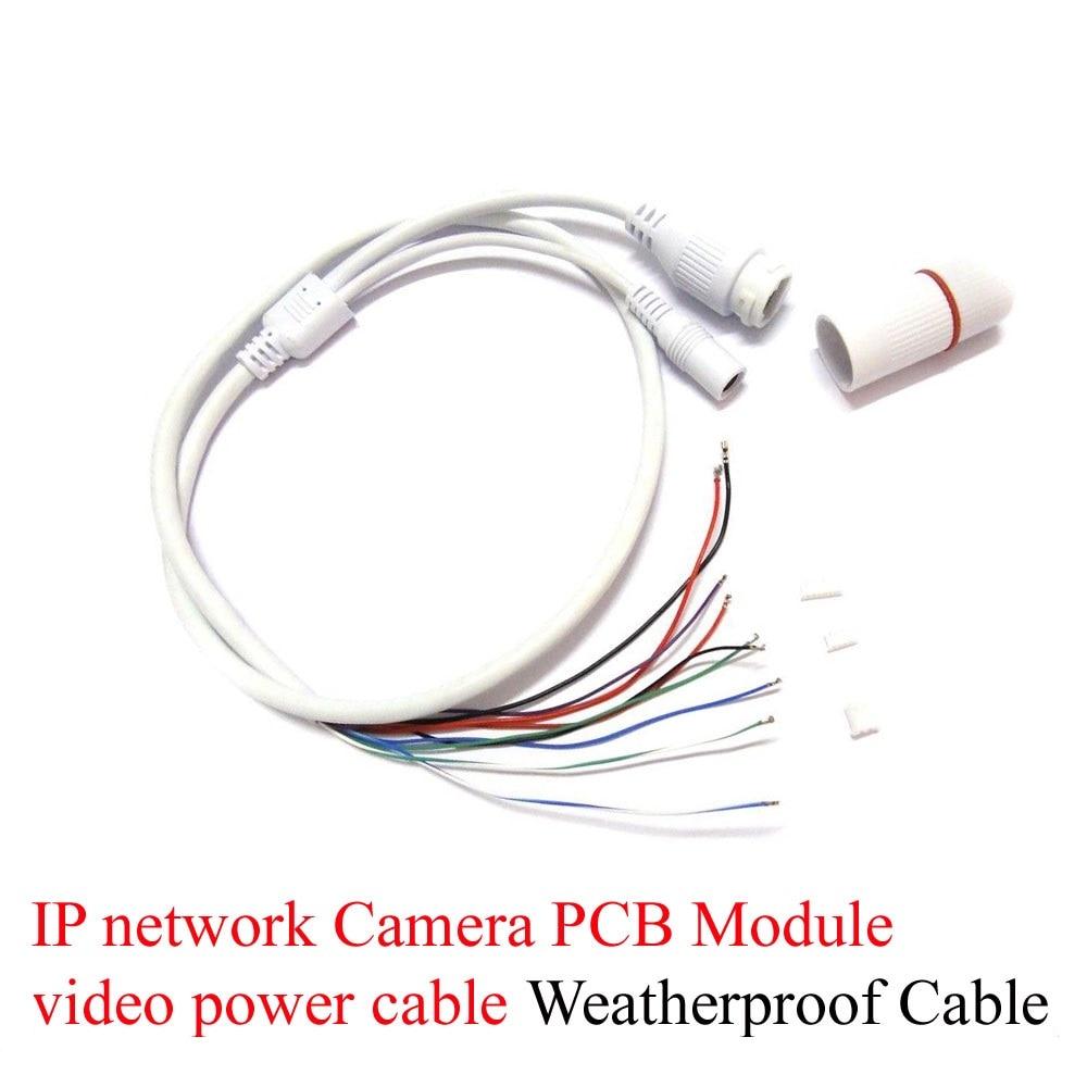 Terminlas 2Pcs Weatherproof cable CCTV IP video power network Camera PCB Module